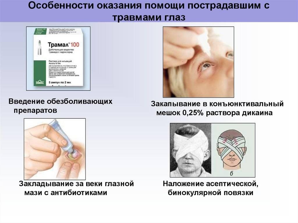 Травма глаза: классификация, первая помощь и лечение