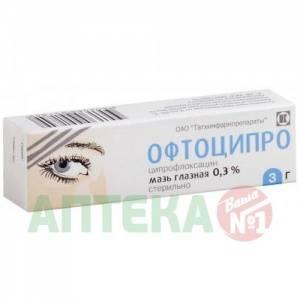 Офтоципро – инструкция по применению глазной мази и отзывы про капли