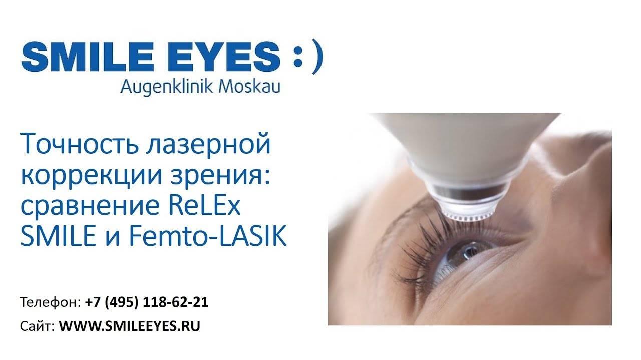 Где и у кого делать лазерную коррекцию зрения relex smile