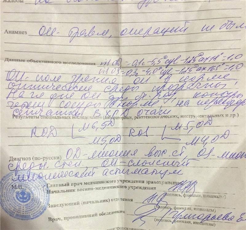 Амблиопия и армия - мед портал tvoiamedkarta.ru