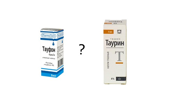 Что лучше: глазные капли таурин или тауфон? в чем разница? - dosug5.info