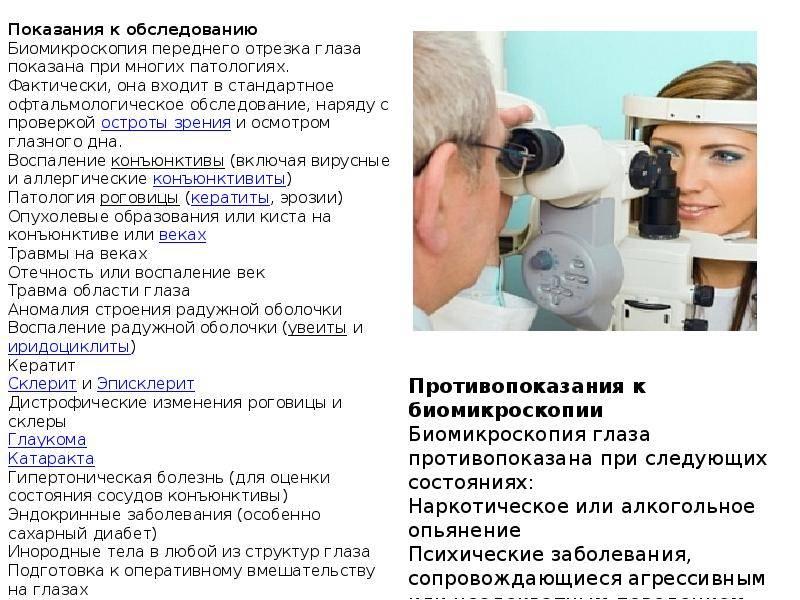 Биомикроскопия глаза: методика проведения исследования