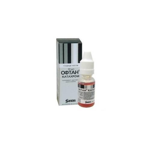 Глазные капли офтан катахром: инструкция по применению, цена, отзывы, аналоги и показания