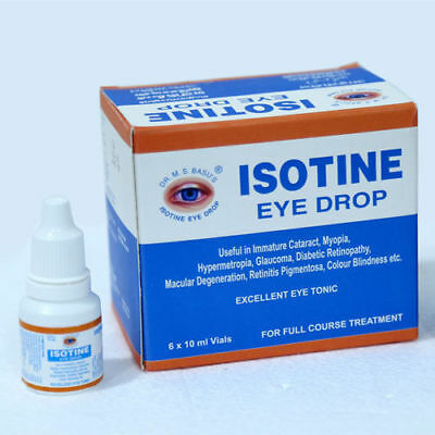 Глазные капли айсотин плюс 10 мл. джагат фарма (isotine plus eye drop jagat pharma) индия  (№02201219)