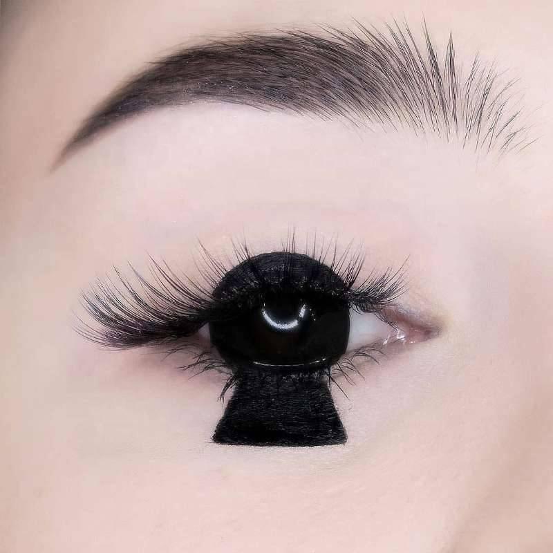 Склеры - черные линзы на весь глаз, обзор, цена