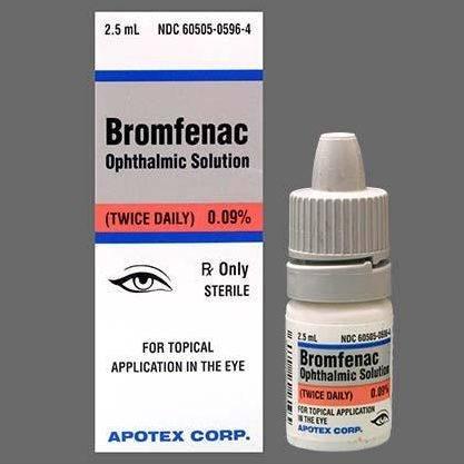 Глазные капли бромфенак: аналоги, инструкция, побочные эффекты