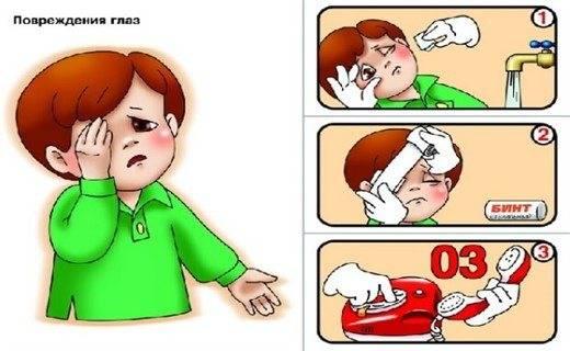 Если ткнули веткой в глаз что делать если он болит - мед-справка