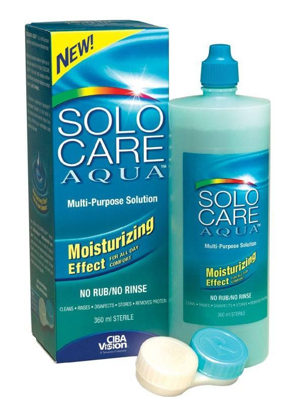 Solo care aqua раствор для линз обзор отзывы