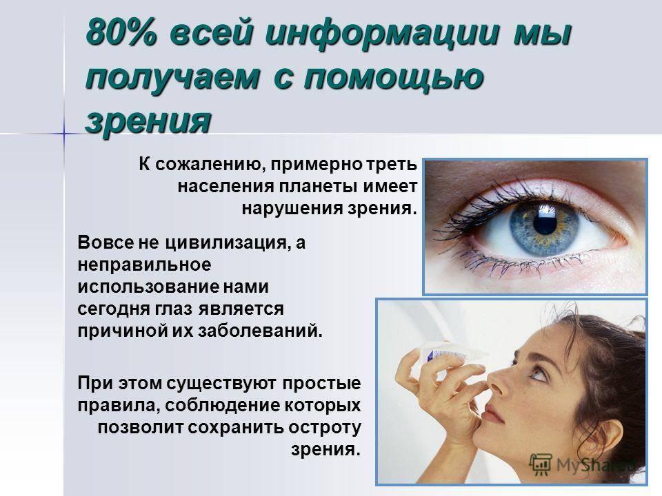 Профилактика нарушений зрения при работе на компьютере - статьи о глазных болезнях
