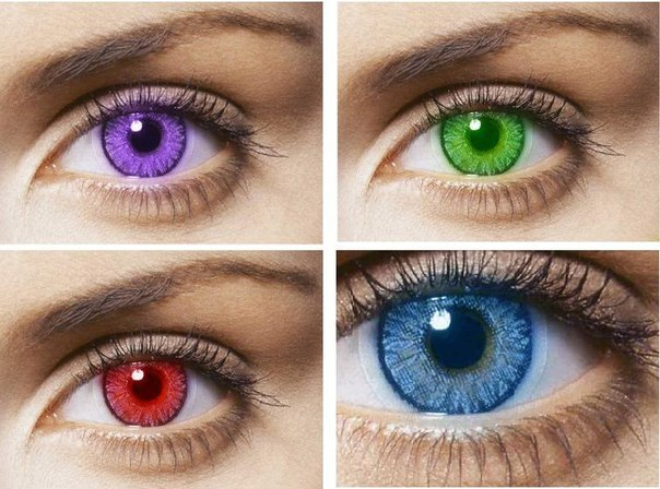Цветные линзы для карих глаз, нюансы выбора и ношения