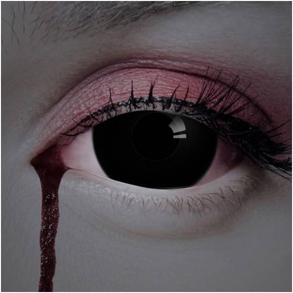Склеры черные линзы на весь глаз обзор цена