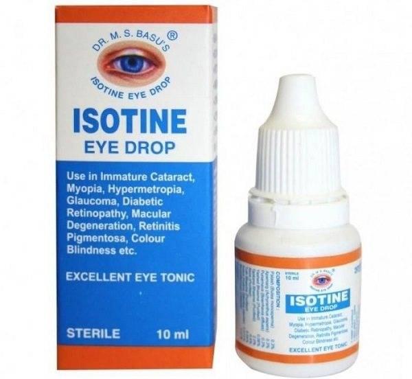 Глазные капли айсотин: инструкция по применению, побочные эффекты