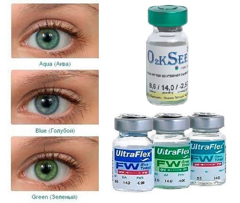 Оттеночные цветные линзы контактные с диоприями для глаз, фото до и после, для голубых, без, как выбрать