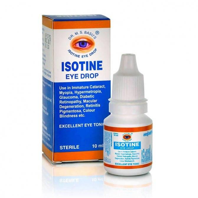 Isotine (айсотин) глазные капли: отзывы, инструкция по применению, цена и аналоги