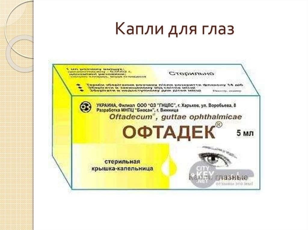 Офтадек капли глазные инструкция цена отзывы - мед портал tvoiamedkarta.ru