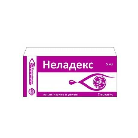 Неладекс капли глазные/ушные фл.5мл :: инструкция :: описание препарата :: цена