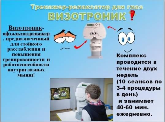 Глазной тренажер визотроник: обзор, инструкция, цена, применение