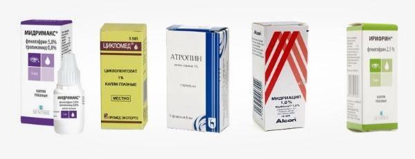 Циклоплегические и мидриатические препараты