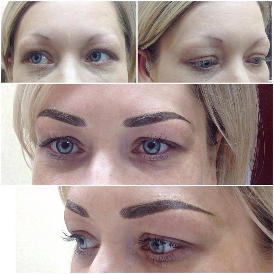 Волосковый татуаж бровей: фото до и после, результаты и отзывы