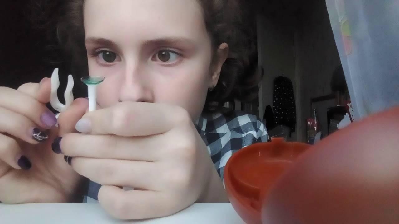 Как легко снять линзы с длинными ногтями