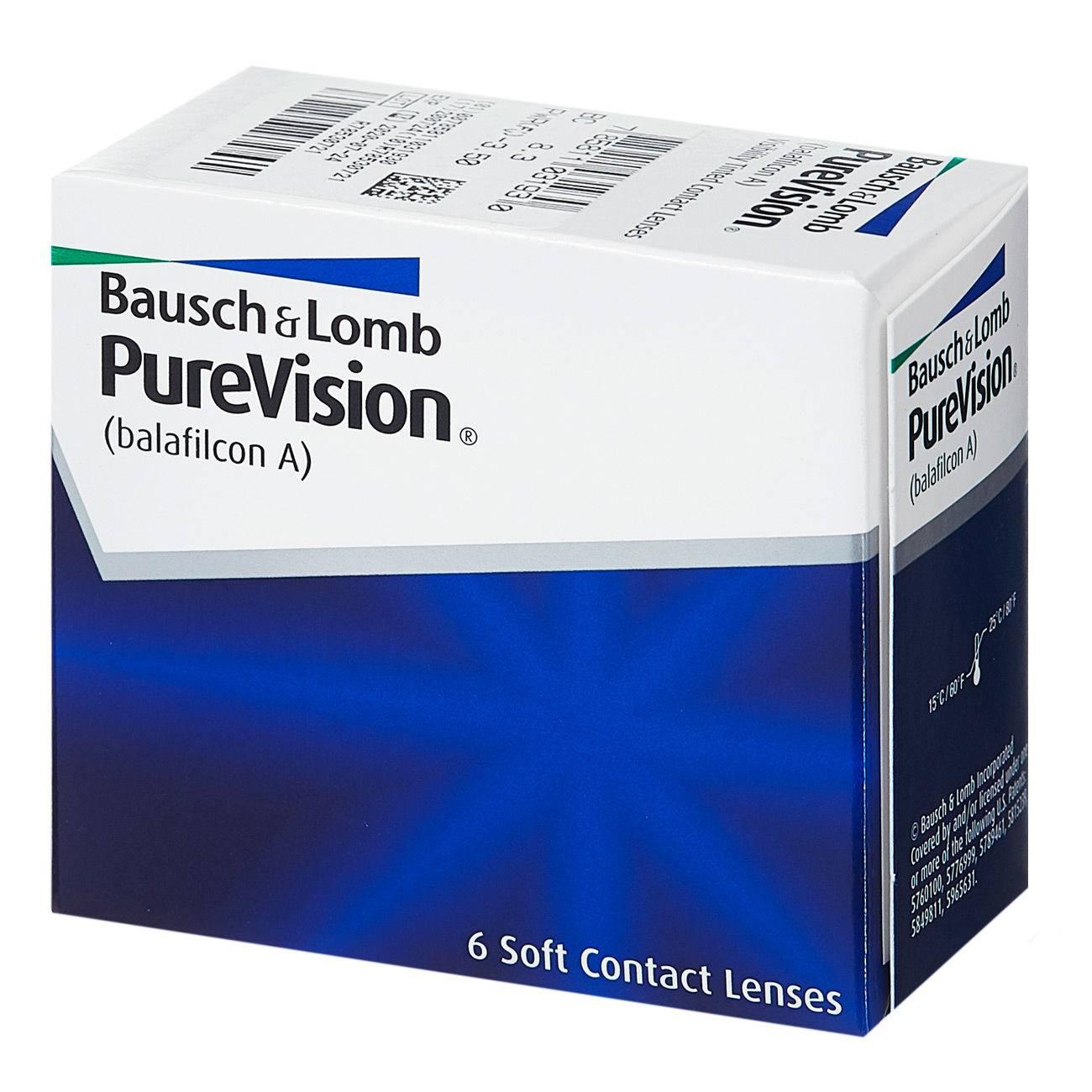 Лучшие 3 модели линз pure vision и 13 аналогов контактных линз