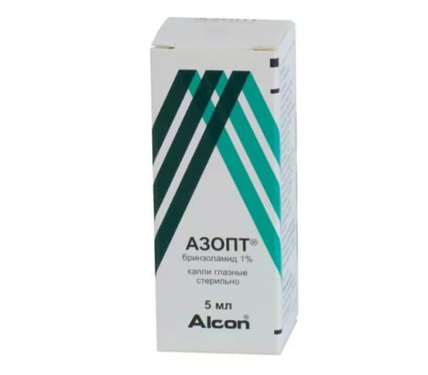 Капли глазные азопт: инструкция по применению, бринзоламид 10 мг