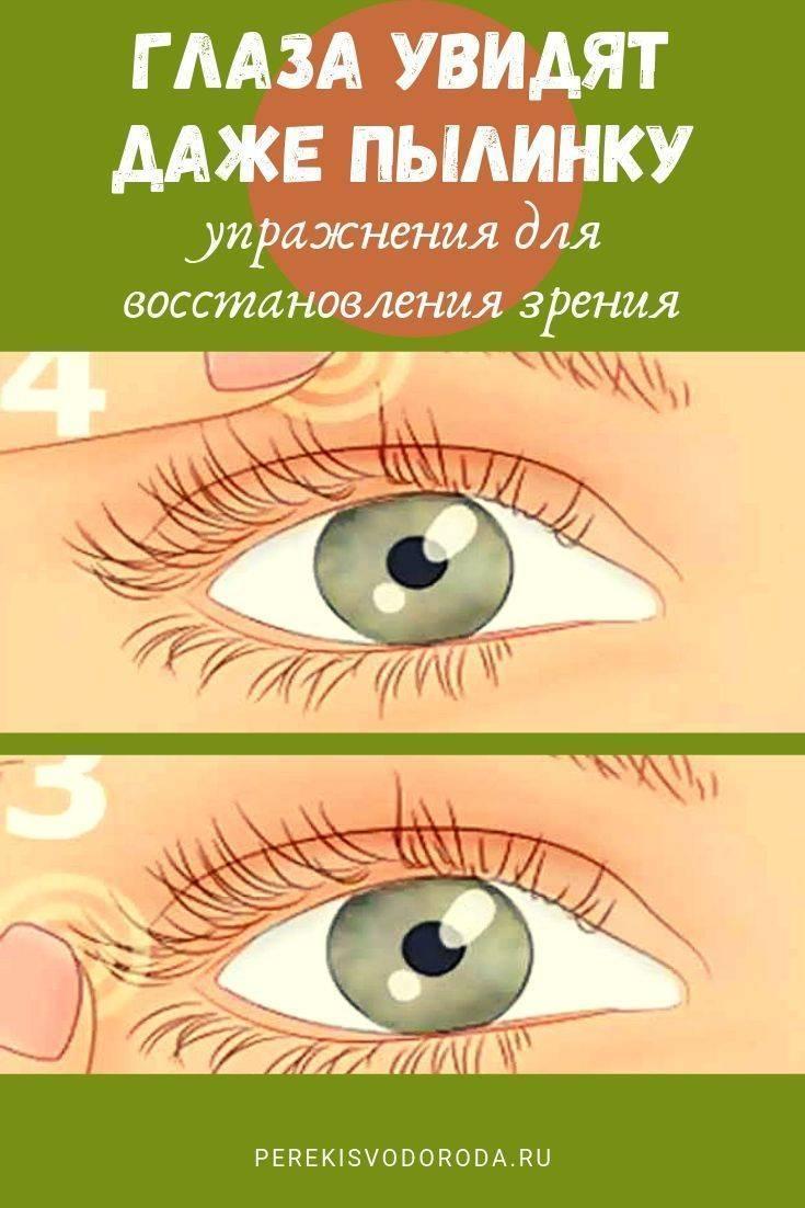 Гимнастика для глаз при катаракте: упражнения для тренировки хрусталика, техника массажа