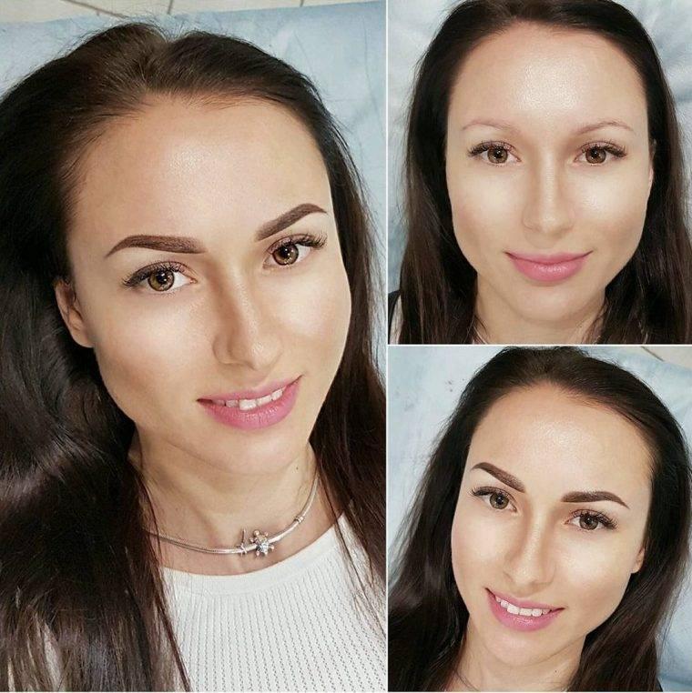 Пудровые брови (59 фото): что такое пудровое напыление и  нанонапыление, кремовый татуаж до и после, отзывы