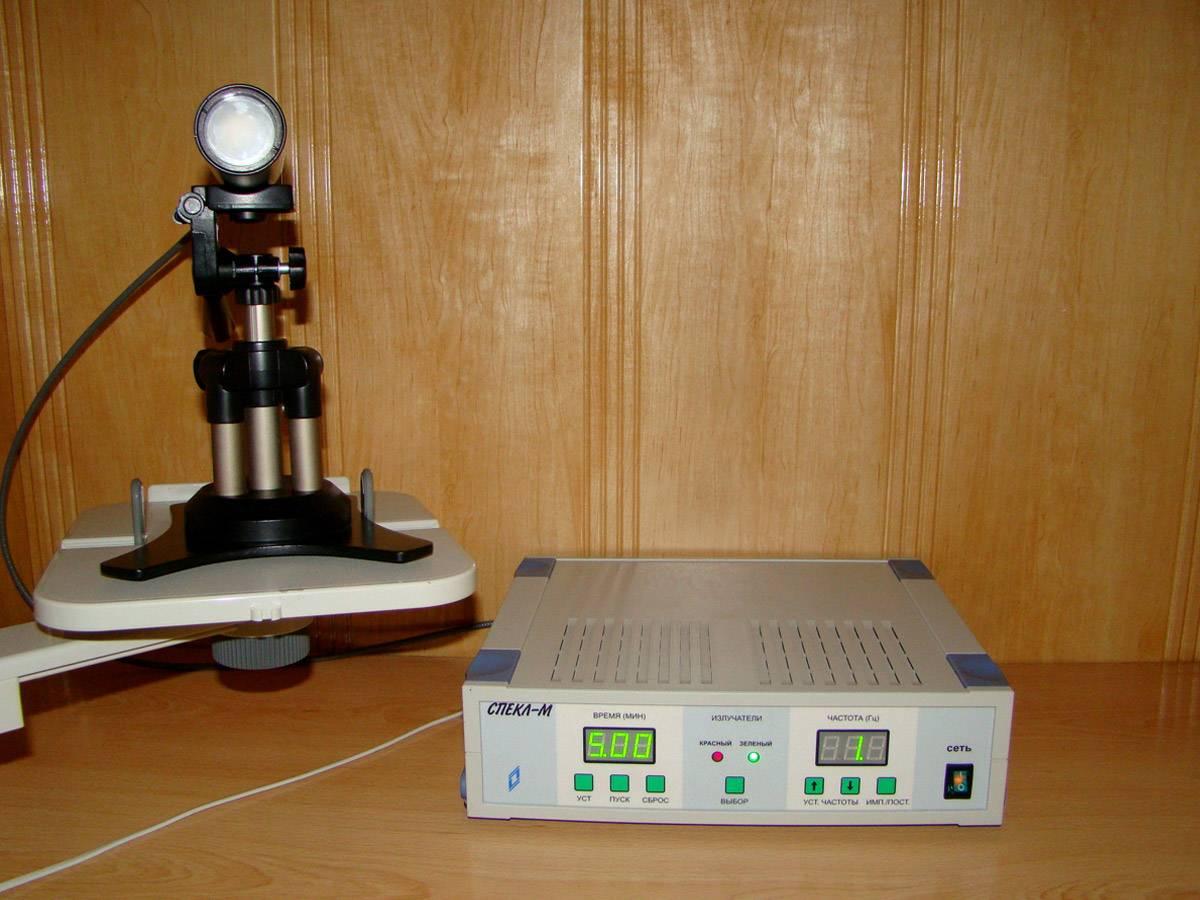 Аппарат лазерный офтальмотерапевтический для лечения методом стимуляции сетчатки амблиопии и других рефракционных заболеваний у детей и подростков «спекл-м»