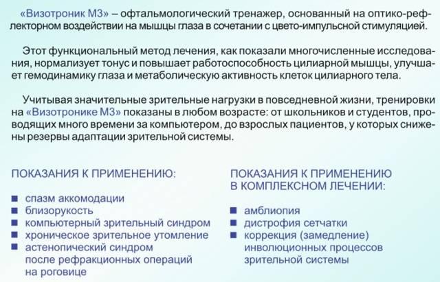 Визотроник м3: инструкция, отзывы и цены на лечение
