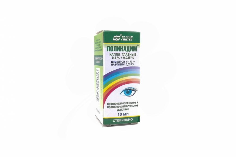 Капли для глаз полинадим: для чего назначают, инструкция, цена, отзывы