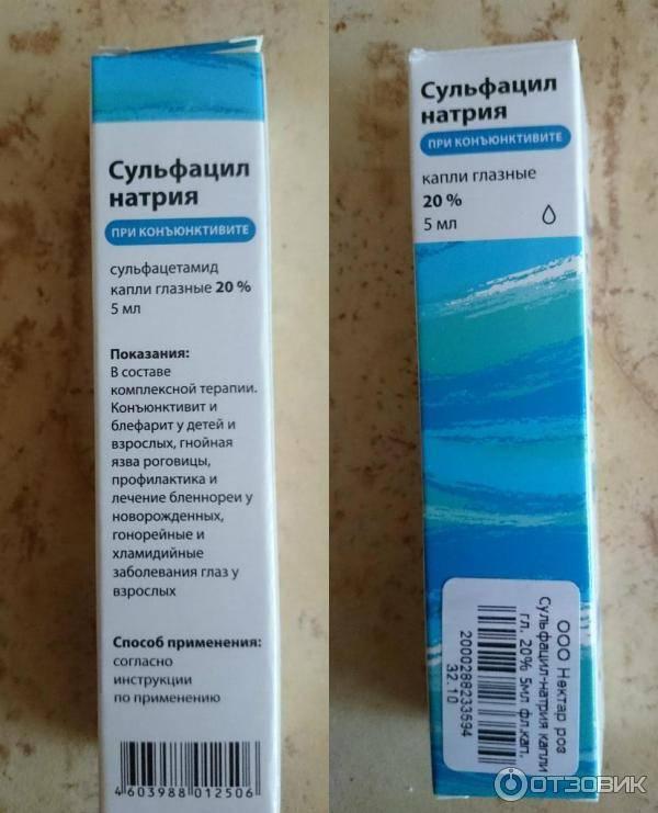Глазные капли сульфацил натрия – инструкция к применению
