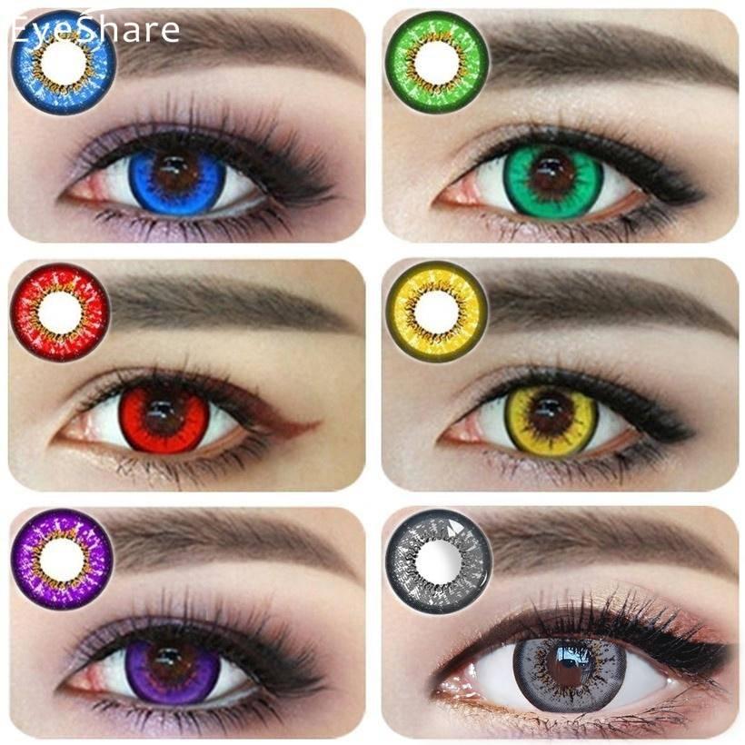 Особенности выбора цветных линз для карих глаз