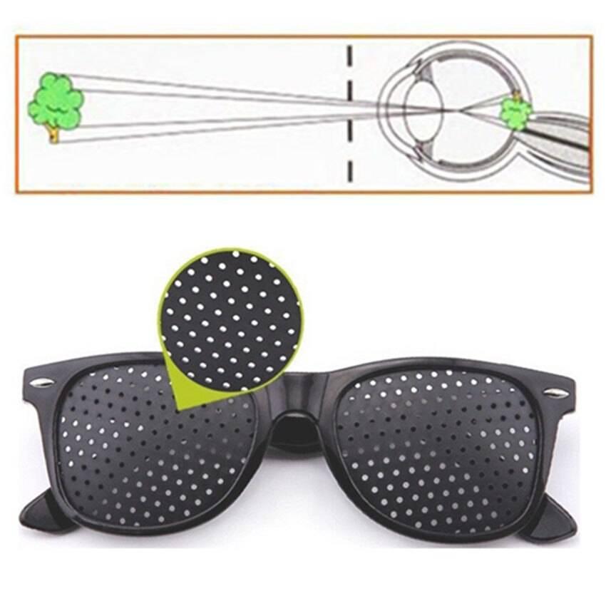 Очки с дырочками для улучшения зрения (перфорационные)