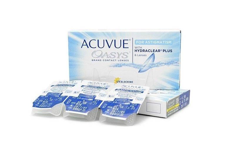 Acuvue astigmatism – как должны быть расположены отметки на линзах