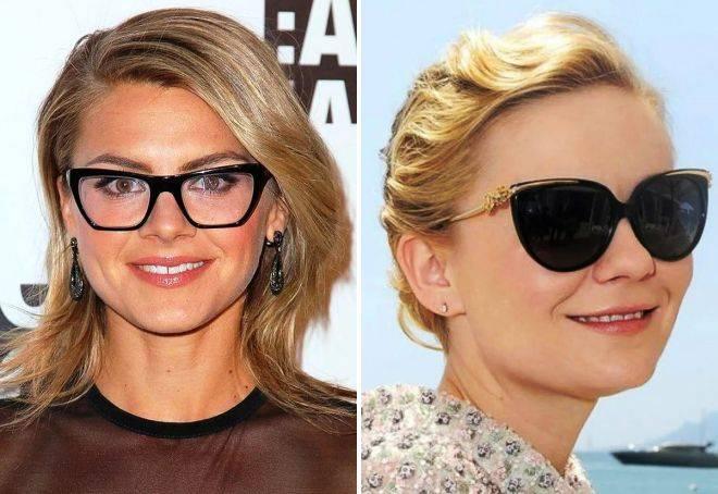 Солнечные очки женские на круглое лицо фото с примерами
