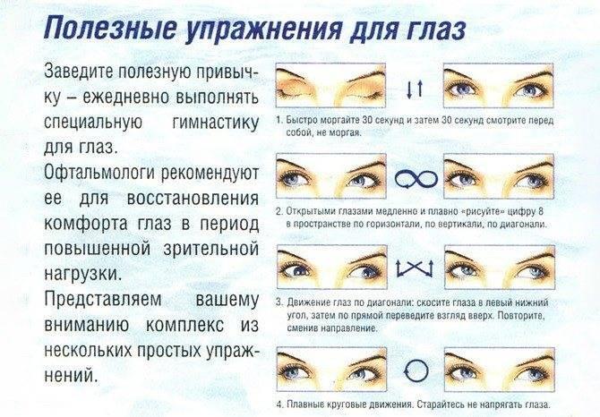 6 работающих методик гимнастики для глаз при катаракте
