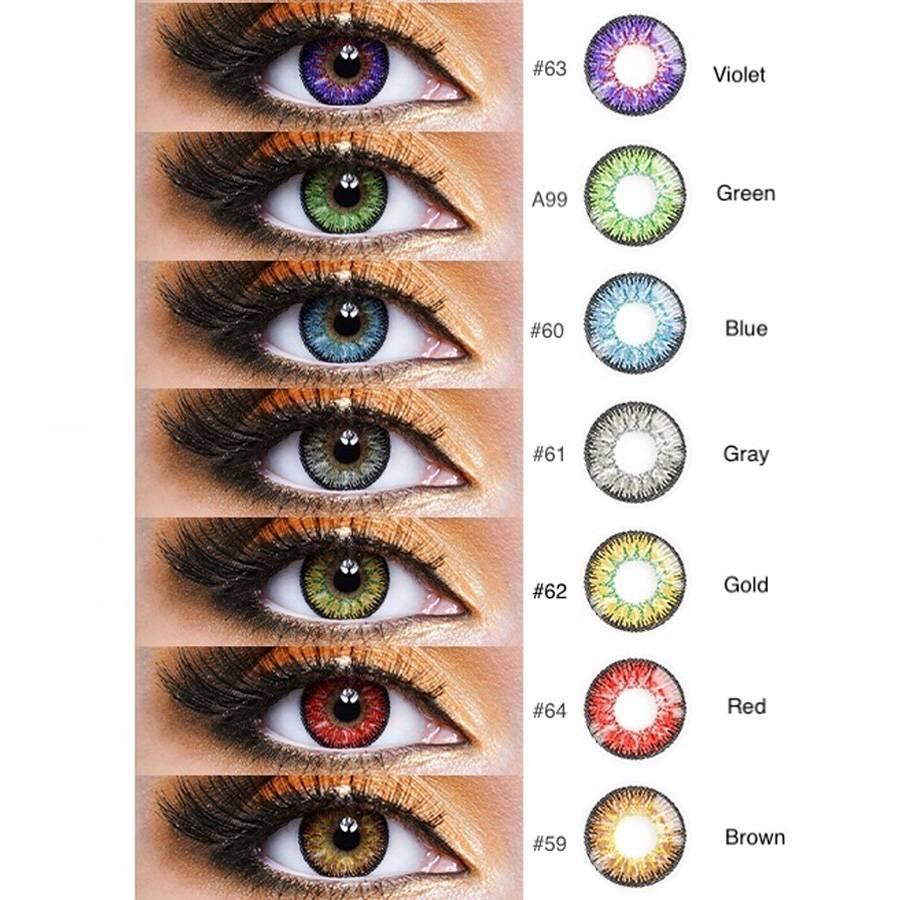 Линзы голубые на карие глаза: виды синих контактных - блеск, преображение, диоптрии, особые случаи, цветные пленки для любых глаз