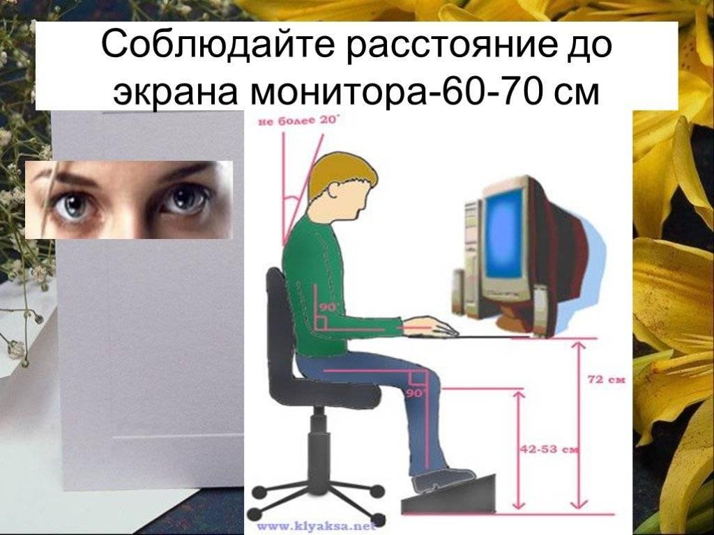 Оптимальное расстояние между глазами и монитором - медицинский справочник medana-st.ru