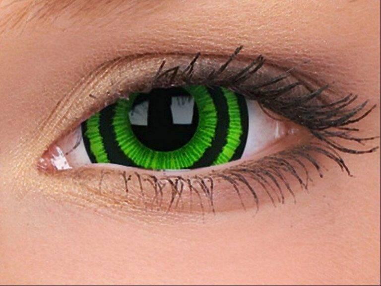 Зеленые линзы - как правильно выбрать цветные или оттеночные контактные на карие и серые глаза с фото до и после