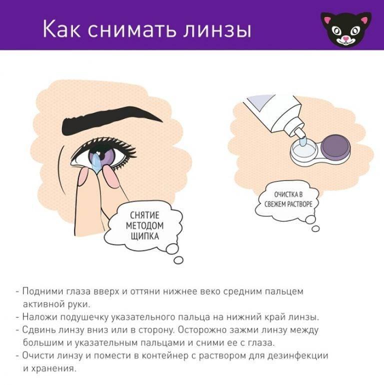 Как снять линзы с глаз и надеть: инструкция как легко, быстро и правильно сделать это для ночных, мягких и жестких контактных линз, как помочь ребенку