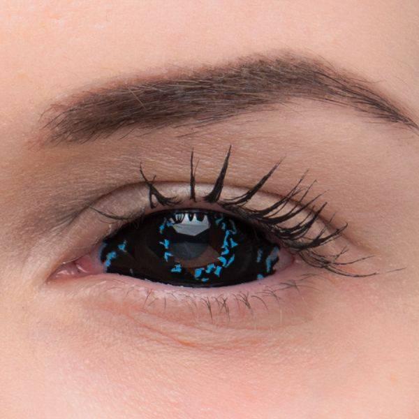 Контактные линзы черные на весь глаз и на зрачок