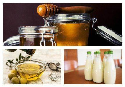Мед, масло и молоко при отеках