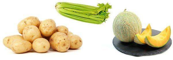 Овощи и фрукты с калием