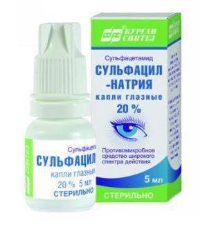 Сульфацил натрия - капли