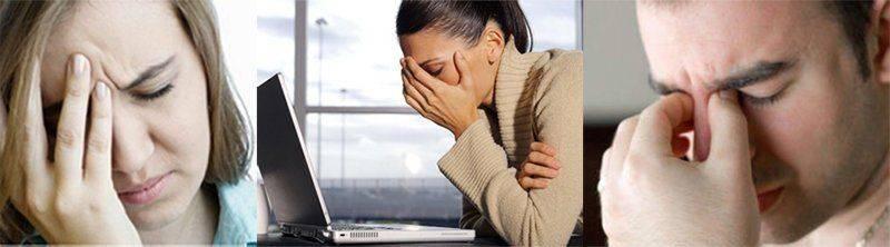 Внешнее проявление головной боли