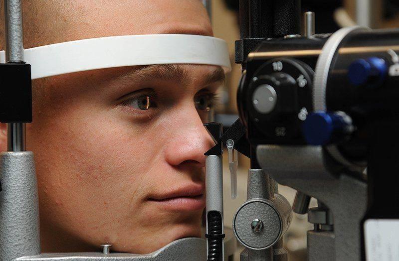 Визуальный осмотр глаз