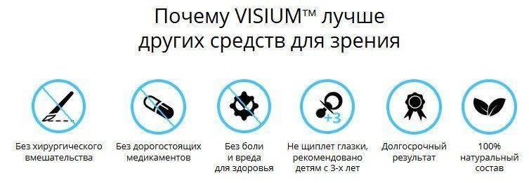 Преимущества препарата Визиум